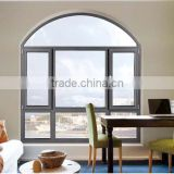 Teak Golden Aluminium Color Wooden Window Frames Designs