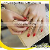 star design 3pcs set spiral adjustable gold jewellery rings                                                                         Quality Choice