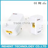 Rehentech 7Inova 500Mbps Wireless HomePlug AV Powerline Ethernet Adapter 500M Starter Kit