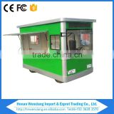New Design Galvanized Steel Tempered Glass Solar Mobile Food Truck with Bus Type for Sale
