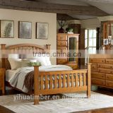 antique style bedroom furniture set unique headboard and footboard wooden bed manufacturer