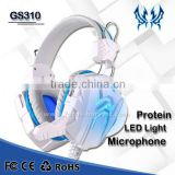 EACH GS310 Gaming Headphone Gaming Headset Gamer Headband Glaring LED Light LED Earphone With Mic Stereo Fone De Ouvido Red Blue