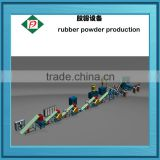 Waste radial tyres and nylon ,OTR tyres recycling plant for fine rubber powder