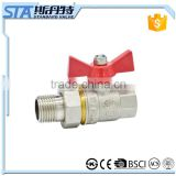 ART.1020 DN 15 20 25 full port manual power forgd f/m threaded full bore o-ring structure nipple union in delhi brass ball valve