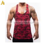 Red camouflage singlets mens fashionable gym wear