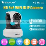 Robot home use Auto-Alarm Security HD 720P WIFI Pan Tilt IP Camera with 433 protocol alarm sensor mobile view ip camera