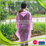 Factory direct sales transparenter disposable regenponcho raincoats type and PE rain poncho