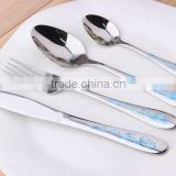 High Grade Gold Plated Stainless Steel Flatware Set Wholesale Gold Knife Fork Set KX-S148