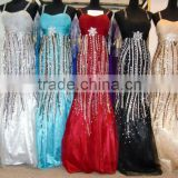 new arrival dress sequins evening dress beaded evening dresses braces skirt beautiful ball gowns 6675