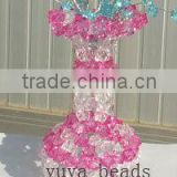 crystal beaded vase craft