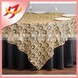 Silver Chemical Lace Embroidery Fabric Sequin Table Overlay