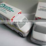 Factory direct wholesale pu anti stress toy ball,ambulance design stress ball,custom car shape stress ball