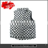 cute cold winter wholesale baby girls sleeveless padded vest