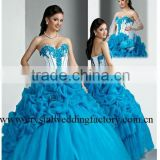 Stunning 2012 sweetheart appliqued ruched embroidered custom-made formal ball gowns CWFab3710