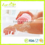 Anti-bacterial Silicone Soft Baby Bath Brush, Bathroom/Spa Shower Silicone Massage Brush