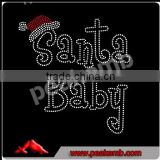 Christmas Santa Baby Hotfixed Rhinestone Iron On transfer for Clothing
