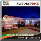 clear tent 15X40m with transparent roof cover and sidewalls for 500 seats outdoor wedding party events
