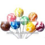 Assorted Fruit Flavours Sweet Bubble Gum Lollipops Center Filled Hard Candy
