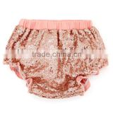 New style newborn clothes sequin baby bloomers wholesale cotton cover with bow diaper pants hot sale