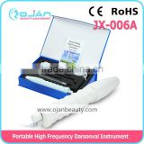 Hot sale Portable D'arsonval High Frequency With 4 Violet Ray Wand/Alta frecuencia JX-006A