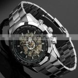 China Supplier Mens Full Steel Skeleton Dial Automatic Auto Analog Men's Mechanical Watch