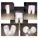 New Arrival! Luxury fiberglass white color Lower Half Body Male Mannequin Torso For Underwear Display