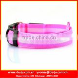 Wholesale Pink Strap Buckle LED Dog Collar Rechargeable