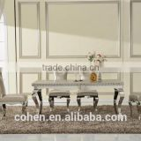 Hot selling modern wooden dining table set dining table and chair for stainless steel furniture and home furniture