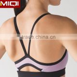 Low MOQ private label brazilian fitness yoga wear, sports bra custom