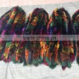 BBG-H-24 Popular professional real fox fur trimming strip detachable cheap fox fur collar hood