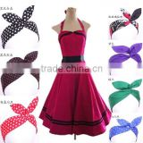 bestdress 2014 Lovely Rabbit Bunny Ear Ribbon Metal Wire vintage 1950s Hair Bow retro hairband