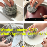 Stainless steel 410 scourer/kitchen scrubber/household cleaning tools/natural scourer cleaning ball