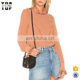 Hot products top 20 top femme plisse embellished fashion top 2017