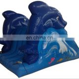 inflatable dolphin sealed water slide