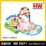 colorful bear toys piano mat fitness frame baby gym activity playmats