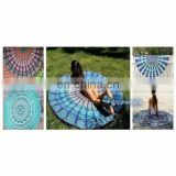 Mandala Round Roundie Beach Throw Tapestry tablecloth Beach Towel throw cotton 72''