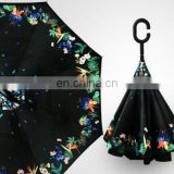 Top Quality Customized Rain Fashion C Handle Inverted Umbrella