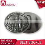 Newest iron wholesale metal military belt buckles