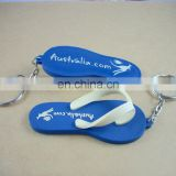 Flip flop shaped soft PVC 3D rubber keychain