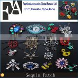 Hot Selling Good Quality Mixed Fruit Flower Animal Sequin Patches for Clothing Motif