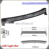 Customized automobile accessories 180watt 32inch dual row truck off-road led light bar