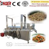 Gas Continuous Deep Frying Machine| China Gas Chickpea Deep Fryer