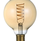 G95 LED Filament Bulb for perfectly replacement of incandescent lamp 5w 300lm dimmable amber