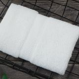 100% Cotton 5 Star Hotel Dedicated White Dobby Small Face Towel