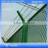 Bto-22 Hot Dipped Galvanized Razor Barbed Wire High Quality Barbed Iron Wires Barbed Wire Fence Spools