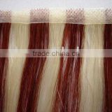 Piano color skin weft European hand tied human hari