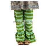 Lovely stripe pattern cotton bloomers baby pants fashion design ruffle pants