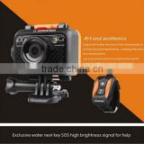 Full hd 1080p action camera,waterproof to 60 meters without case,supporting WIFI remote controlling via App on smartphone