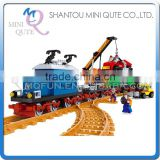 Mini Qute DIY train Transport truck container rail vehicle action figure plastic building block model educational toy NO.25709