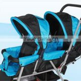 2 seats baby stroller twins with reversible handle bar
